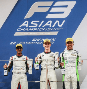 Jaden - Asian F3 Race 9 Podium Finish