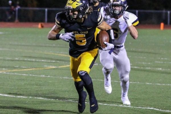 Matthew Smart,Del Oro Football Sr wide receiver caught three passes for 173 yards and scored both touchdowns in come from behind win...