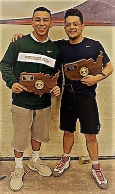 Peyton Omania (De La Salle, NC) and Mason Hartshorn (Freedom, NC)