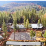 Overhead view of Camp grounds at NCSTV Summer Basketball Camp OVERNIGHT 5 DAY BASKETBALL CAMP IN THE SIERRA FOOTHILLS